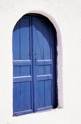 foto blauwe deur